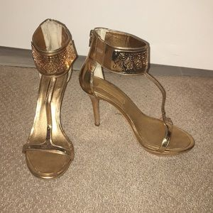 BCBG golden heels